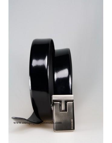 Possum cinturón negro broche reversible