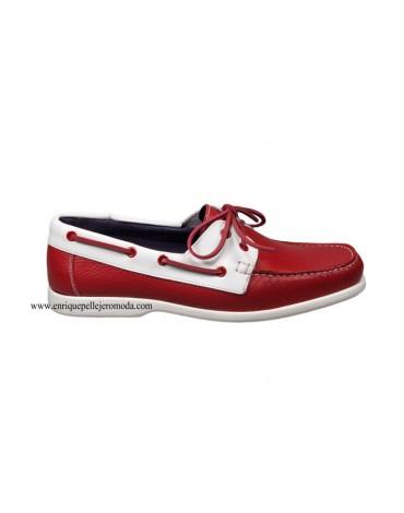 Pertegaz zapatos nauticos rojos