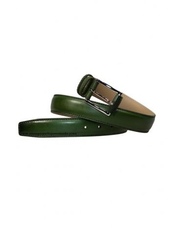 Possum cinturón verde piel