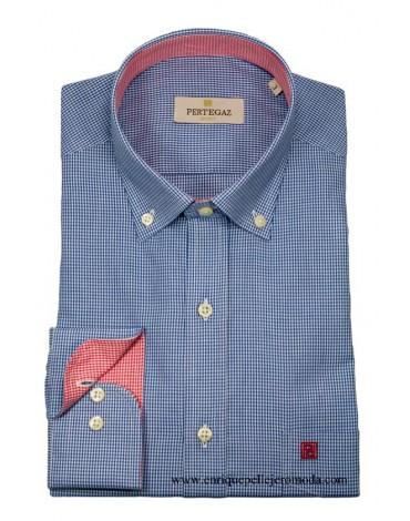 Pertegaz camisa azul cuadro Vichy