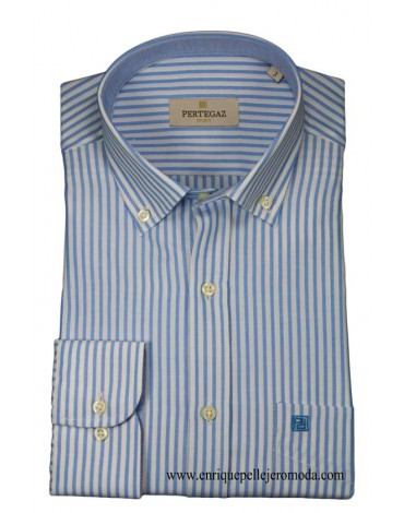 Pertegaz camisa azul rayas