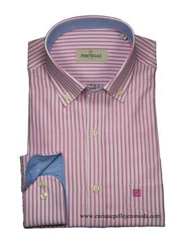 Pertegaz camisa fucsia rayas