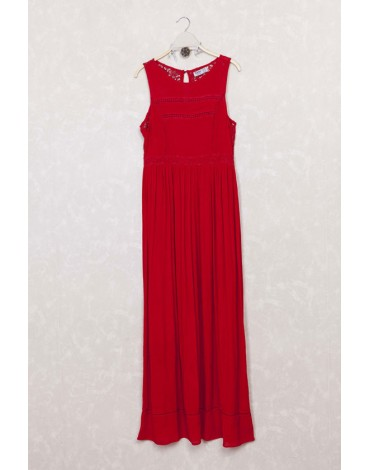 Mdm vestido rojo largo