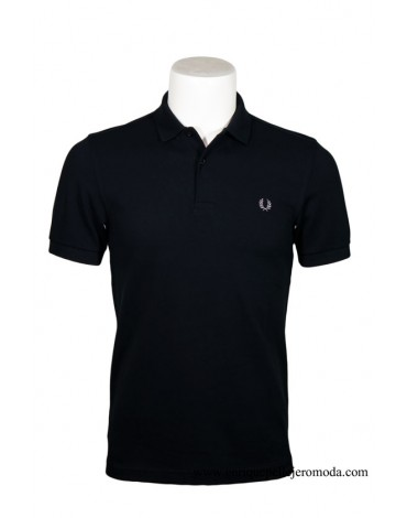 Fred Perry polo negro liso
