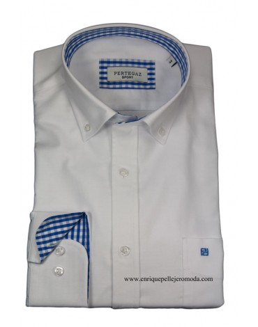 Pertegaz camisa sport blanca