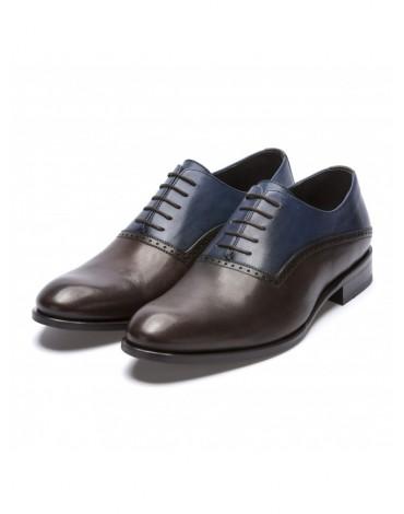 Sergio Serrano zapato ingles marrón y azul