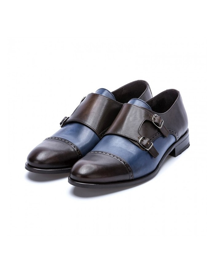 Sergio Serrano brown and blue buckle shoes ...