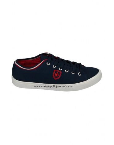 Valecuatro zapatillas azul marino cordones