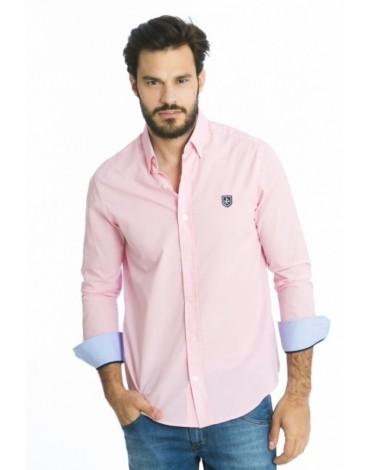 Valecuatro camisa clásica rosa