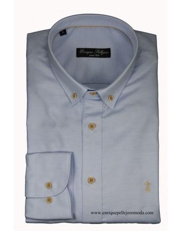 Camisa celeste lisa Enrique Pellejero