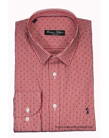 Camisa rayas rojas ancla Enrique Pellejero