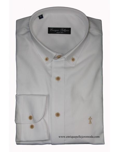 Camisa blanca lisa Enrique Pellejero