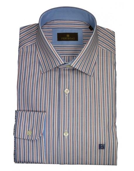 Pertegaz camisa vestir rayas bicolor