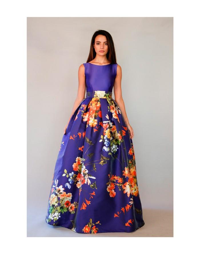 Hermosa Vestido De Fiesta Estampado Floral Regalo - Ideas para el ...