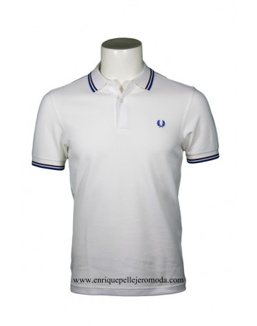 Fred Perry polo blanco rayas hombre
