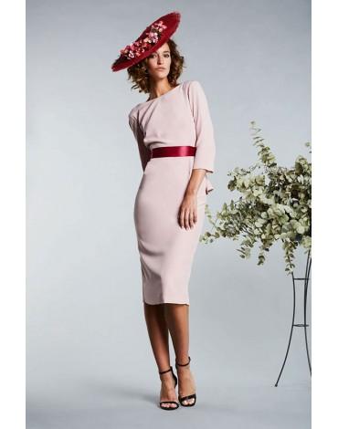 Matilde Cano vestido rosa volantes