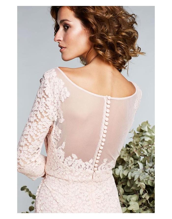 a826b5cca Vestido Matilde Cano de encaje color nude compra online portes gratis