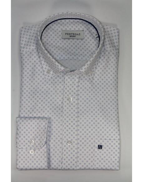 Pertegaz camisa blanca dibujo