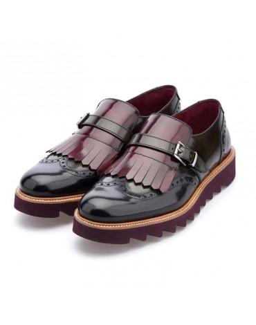 Chopo zapatos hebilla y flecos