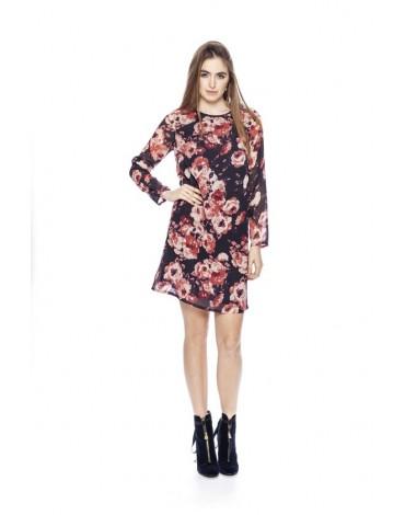 MdM vestido negro con flores