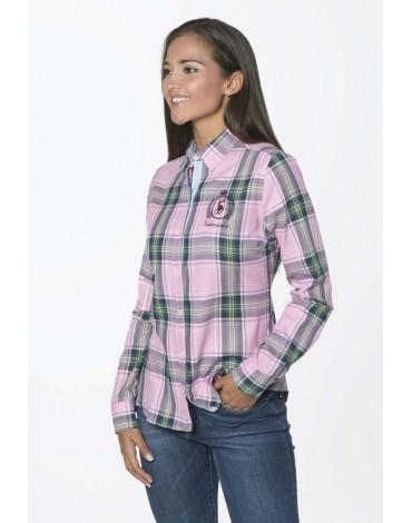 Valecuatro camisa cuadro tartán rosa