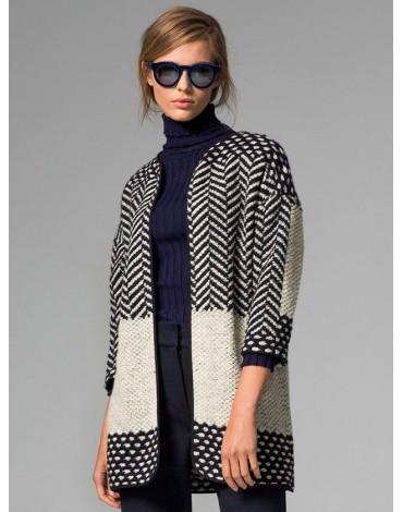 Vilagallo chaqueta punto blanca y negra