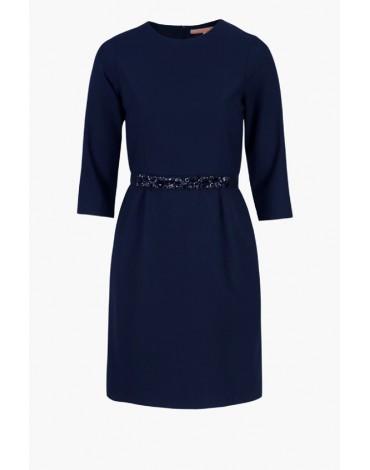 Vilagallo vestido azul marino manga larga
