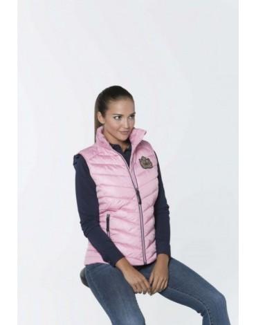 Valecuatro chaleco acolchado logos rosa
