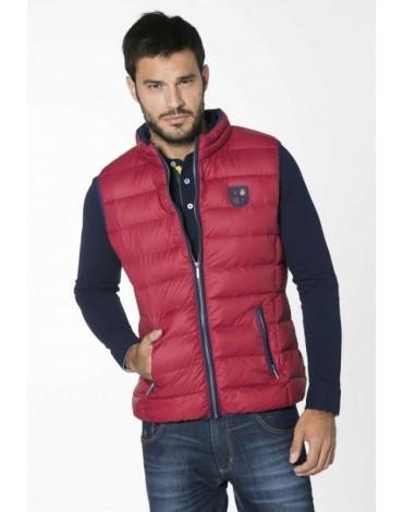 Valecuatro basic vest quilted garnet