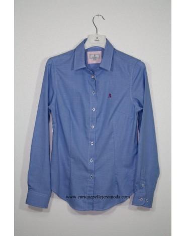 El Caballo blue shirt with drawing