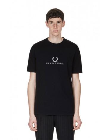Fred Perry camiseta negra manga corta