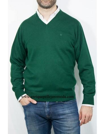 Pertegaz jersey verde cuello pico