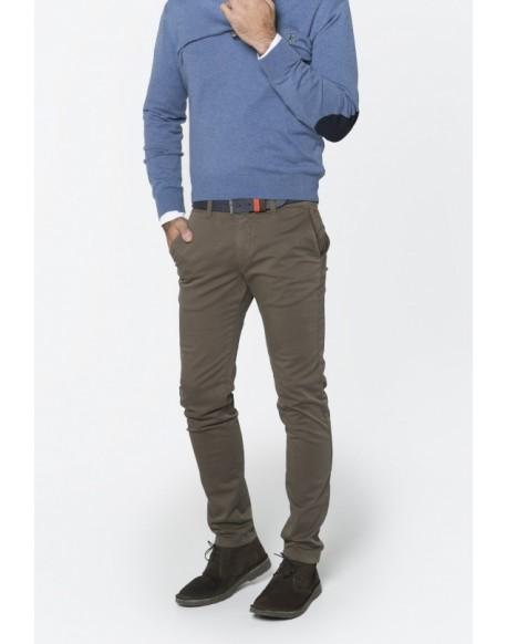 Valecuatro pantalón chino piedra