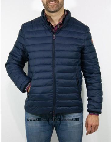 Pertegaz navy blue quilted jacket