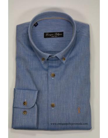 Camisa azul Enrique Pellejero