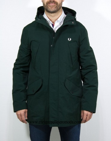 Fred Perry parka verde