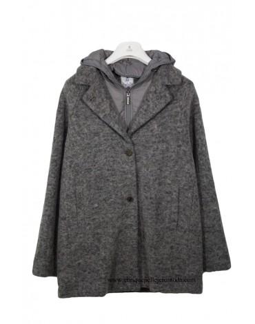 El Caballo chaquetón gris con capucha