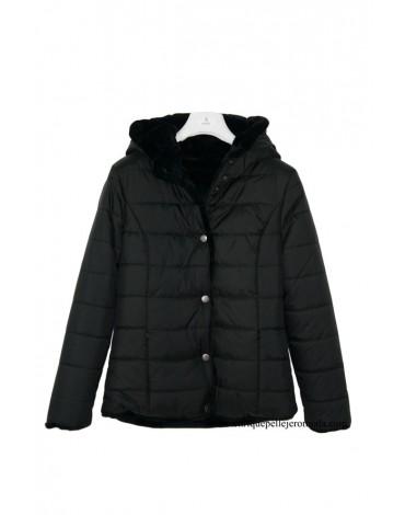 El Caballo chaquetón negro reversible
