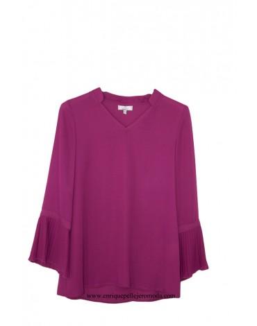El Caballo blusa color buganvilla