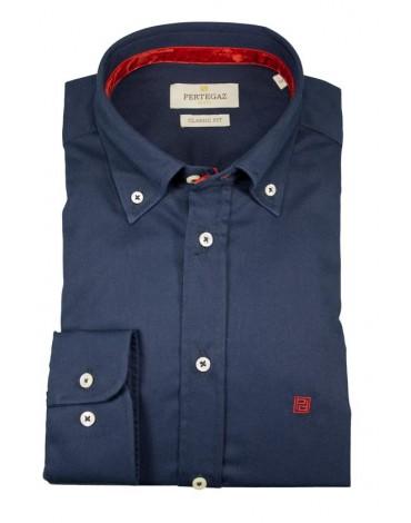 Pertegaz camisa azul marino