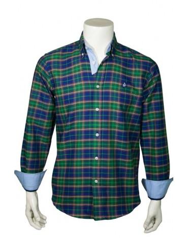 Valecuatro camisa cuadros tartán verde
