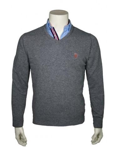 Valecuatro jersey pico gris coderas