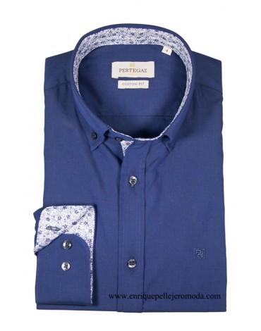 Pertegaz camisa azul marino hombre