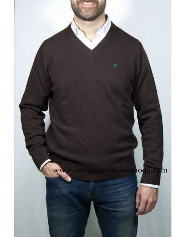 Pertegaz jersey pico marrón