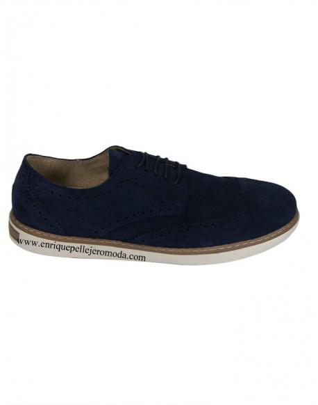 Valecuatro zapatos picados azul marino