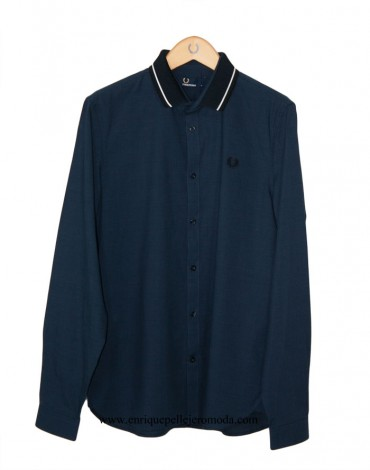 Fred Perry camisa marino cuadros