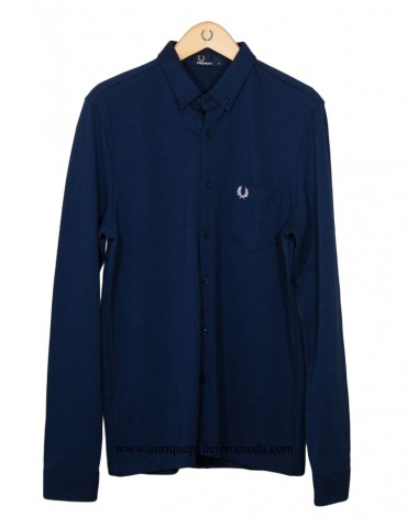 Fred Perry camisa polo azul marino