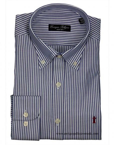 Camisa raya candela azul Enrique Pellejero
