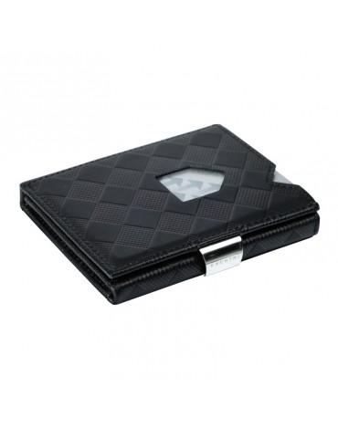 Exentri cartera negra ajedrez con protección RFID