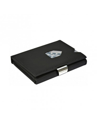 Exentri cartera piel nobuk negra con protección RFID